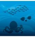 Octupus and fish icon Sea life design vector image vector image