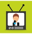 old tv device icon vector image vector image