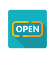 open icon on white background vector image