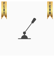 PC Microphone Single flat icon vector image vector image