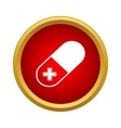 Pill icon simple style vector image vector image