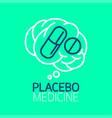 placebo medicine logo vector image vector image