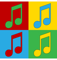 Pop art music icons vector image vector image