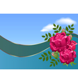 roses and clouds vector image vector image