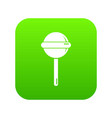 round lollipop icon green vector image