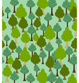 Seamless forest pattern Cartoon tree background vector image vector image