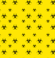 Seamless Pattern with Bio Hazard Signs Wallpaper vector image