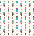 seamless pattern with sport water bottles vector image