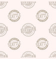 seattle seamless pattern vector image vector image