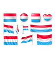 set luxembourg flags banners banners symbols vector image