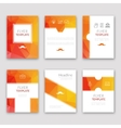 Set of brochures in poligonal style Beautiful vector image vector image
