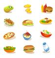 set of healthy food vector image vector image