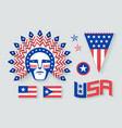 set usa symbols and design elements vector image vector image