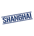 Shanghai blue square stamp vector image vector image