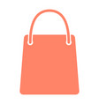 shopping bag silhouette icon minimal pictogram vector image vector image