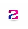 sign number 2 logo vector image