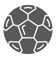 soccer ball glyph icon sport and equipment vector image vector image