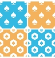 Spades pattern set colored vector image vector image