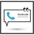 speech bubble on a gray background vector image vector image