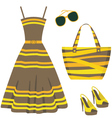 Summer set of clothes vector image