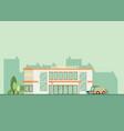 supermarket building facade flat vector image vector image