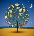 Tree on Abstract Landscape vector image vector image