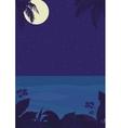Tropical night ocean landscape vector image