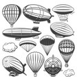 vintage airship collection vector image