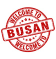 welcome to Busan vector image vector image