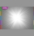 white glowing light burst explosion on transparent vector image vector image