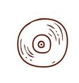 Hand Drawn Vinyl Record vector image