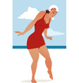 Hot sand vector image