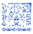 borders corners and other floral elements vector image