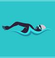 swimming man swimming logo vector image