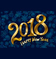 2018 new year gold glossy numbers design blue vector image vector image