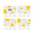 2022 calendar templates printing design of wall vector image vector image