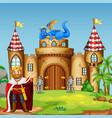 a drigon king at castle vector image vector image