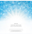 abstract background of blue sky christmas vector image vector image