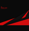 abstract black and red technology template design vector image vector image