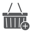 add to cart glyph icon e commerce and marketing vector image vector image