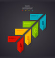 arrows infographic on a dark background vector image vector image
