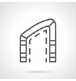 Asymmetric arch simple line icon vector image vector image