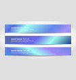 banners with abstract neon background vector image vector image