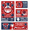 baseball sport game championship poster