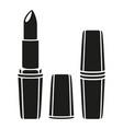 black and white lipstick silhouette vector image