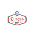 burger-bar-logo vector image