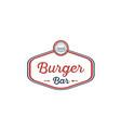 burger-bar-logo vector image vector image