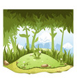 cartoon nature landscape with hill in center vector image vector image