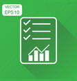 checklist graph icon business concept check vector image vector image