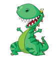 cheerful dinosaur vector image vector image
